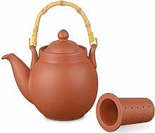 Ton Teekanne Tenno 0,8 Liter mit Tonsieb und