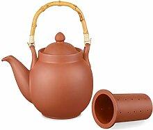 Ton Teekanne Tenno 1,6 Liter mit Tonsieb und