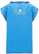 TONCHO Ultra Leichter Handtuch-Poncho/Bademantel,