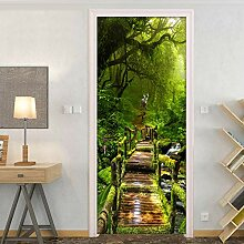 Toncy Tür Aufkleber Wald wandbild 3D fototapete
