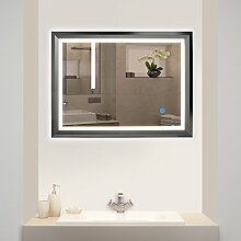 Tonffi LED Beleuchtung Badspiegel Wandspiegel mit