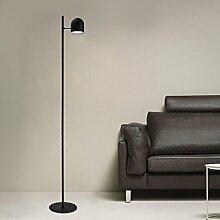 Tonffi Stehlampe Tageslichtlampe LED Standleucht dimmbar 5W 270LM Touch-Schalter Wohnzimmerlampe Eisen schwarz