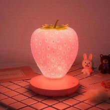 Tongdejing Erdbeer Nachtlicht, niedlichen Silikon