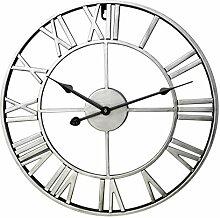 TONGJI 60cm Wanduhr Vintage Wanduhr Lautlos Uhr