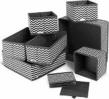 TONIORE 8 Stück Aufbewahrungsbox Stoff Set