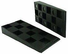 ToniTec Montagekeile 200 Stk 150x43x20 mm schwarz | Fenster- und Türenmontage |