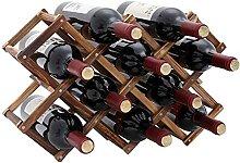 TONLEA Weinregal aus Holz, für 10 Weinflaschen,