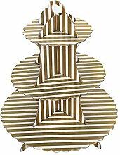 Tonpot 3-stöckiger Tortenständer Party Pappe mit