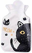 Tonpot Wärmflasche mit süßer Cartoon-Katze, aus
