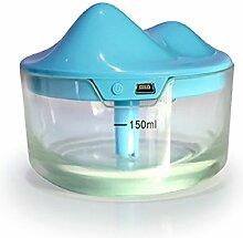 Tonsee 150ml Ultraschall nach Hause Aroma Luftbefeuchter Air Diffuser Nebel Luftreiniger Lonizer Zerstäuber (Blau)