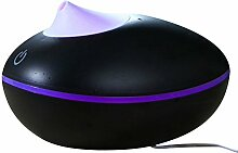 Tonsee 200ML Essential Oil Aroma Diffusor Luftbefeuchter Aromatherapie Maschine,170 * 140 * 110mm,Manuell (Schwarz +Lila)