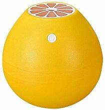 Tonsee 400ML Grapefruit Geformt Luftbefeuchter Silent Mini Fruit Luftbefeuchter Portable Zerstäuber für Office Car Zimmer (Gelb)