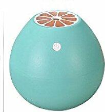 Tonsee 400ML Grapefruit Geformt Luftbefeuchter Silent Mini Fruit Luftbefeuchter Portable Zerstäuber für Office Car Zimmer (Blau)