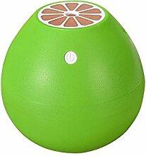 Tonsee 400ML Grapefruit Geformt Luftbefeuchter Silent Mini Fruit Luftbefeuchter Portable Zerstäuber für Office Car Zimmer (Grün)