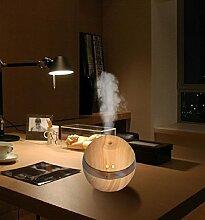 Tonsee Luft Aroma Wichtig Öl Diffusor LED Ultraschall Aroma Aromatherapie Luftbefeuchter,300ml (Khaki)