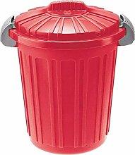 Tontarelli - Mülleimer aus Kunststoff mit Deckel