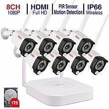 Tonton Full HD Wireless Überwachungskamera System