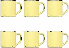 Tony Brown Kaffeebecher Emaille-Optik Tassen