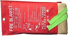 Tonyko® Dick Fiberglas Schweißen Decke und Feuer Decke, 39 × 39 Zoll, 2 Pfund