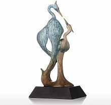 Tooart Kran Figürchen Skulptur, doppelte Kran