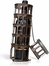 Tooarts Metall Turm Wine Rack klassische Flaschenhalter Küche Bar Anzeige Bügeleisen Wein Halter Home Dekoration Zubehör