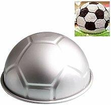 TOOGOO 1 PCS 3D Half Runde Kugelfoermige Fussball