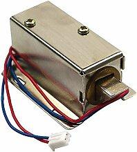 TOOGOO Elektroschloss Tuer Magnetventil Silber