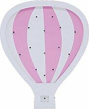 TOOGOO Heissluftballon Geformt LED Holz Nachtlicht