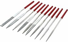 TOOGOO(R) 10 Stueckue60mm Professionelle Wohnung triangle Schleifmaschinen Praegung Nadel Datei Set Werkzeuge