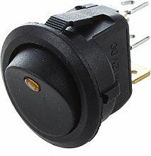 TOOGOO(R) 12V LED Wechselrichter schaukelnd Wippenschalter RUNDEN SPST ON-OFF fuer BOOT Auto orange