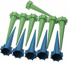 TOOGOO(R) 12x Automatische Bewaesserung Spuelung Spike Garten Pflanze Blume Tropf Berieselungsapparat Blau Gruen