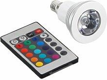 TOOGOO(R) 16 Farb-LED E14 Lampe Licht 3W RGB Licht