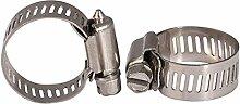 TOOGOO(R) 21mm-38mm Verstellbar Edelstahl Gas Wasser Rohr Schlauchschelle 10 Stueck