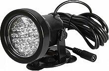 TOOGOO(R) 2PCS 36 LED Faerbige Teichbeleuchtung Unterwasser Aquarium Teich Strahler Lampe Bunt gemischt unterwasserleuchte wasserdicht Lichter Aussenstrahler Spotlight fuer Garten Schwimmbad