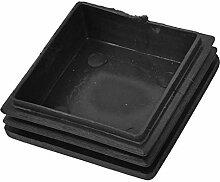 TOOGOO (R) 4 Stueck Plastik Vierkantrohr Schlaucheinsatz Staub Duese Endkappen 50 mm/ 2 Zoll
