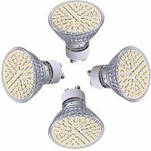 TOOGOO(R) 4x GU10 80 3528 SMD LED Lampe Spot Strahler Power Licht Leuchtmittel Warmweiss 4W