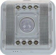 TOOGOO(R) 8 LED Nachtlicht Lampe Bewegungsmelder Sensor Weissue20¡ã