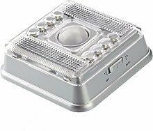 TOOGOO(R) Automatisch Wireless 8 LEDs Lampe Licht mit PIR Sensor Bewegungsmelder Infraro