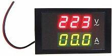 TOOGOO(R)Digital LED Spannungsmesser Amperemeter Voltmeter mit Stromwandler AC 80-300V 0-50.0A Dual Display