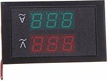 TOOGOO(R)Digital LED Spannungsmesser Voltmeter Amperemeter mit Stromwandler AC 80-300V 0-100.0A Dual Display