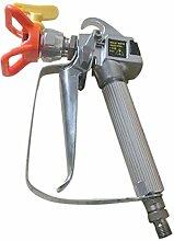 TOOGOO(R) luftlos Farbe Spritzpistole mit Handel Spitze Hochdruck Kein Gas Zerstaeuber 3600 PSI Werkzeug Silber