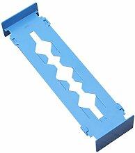 TOOGOO (R) Verstellbare Stretch Home Partition Schrank Schublade Divider Tidy Storage Organizer Farbe: Blau
