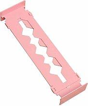 TOOGOO (R) Verstellbare Stretch Home Partition Schrank Schublade Divider Tidy Storage Organizer Farbe: Pink