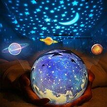 TOOGOO Sterne Nachtlichter fuer Kinder Universe Kosmos Sternenlicht Projektor rotierende Lampe