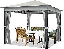 TOOLPORT Gartenpavillon 3x3 m ALU Premium ca.