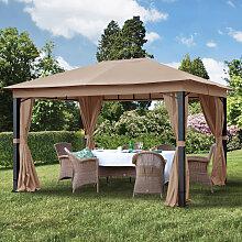 TOOLPORT Gartenpavillon Sunset Premium cappuccino,