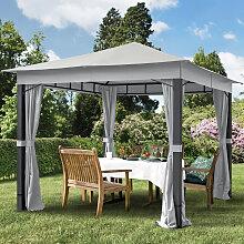 TOOLPORT Gartenpavillon Sunset Premium stone, 3x3m
