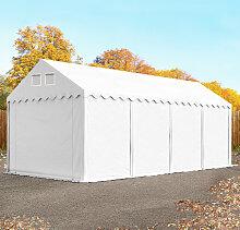 TOOLPORT Lagerzelt 3x8 m - 2,6 m Seitenhöhe, PVC
