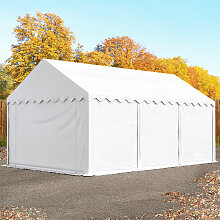 TOOLPORT Lagerzelt 4x6 m, PVC weiß