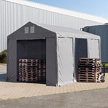 TOOLPORT Lagerzelt 4x6m - 3,0 m Seitenhöhe mit